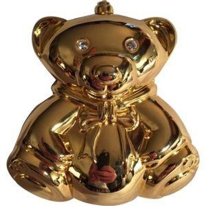 NWOT auth DESIGNER ORIGINAL metallic resin BEAR